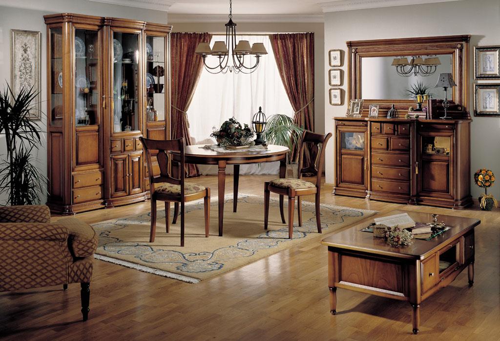 Mueble salon clasico en casaviva muebles medina del campo for Salones mezcla clasico moderno